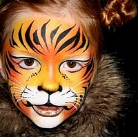 Picture of tiger face painting